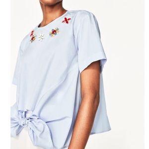 Zara Women Poplin top